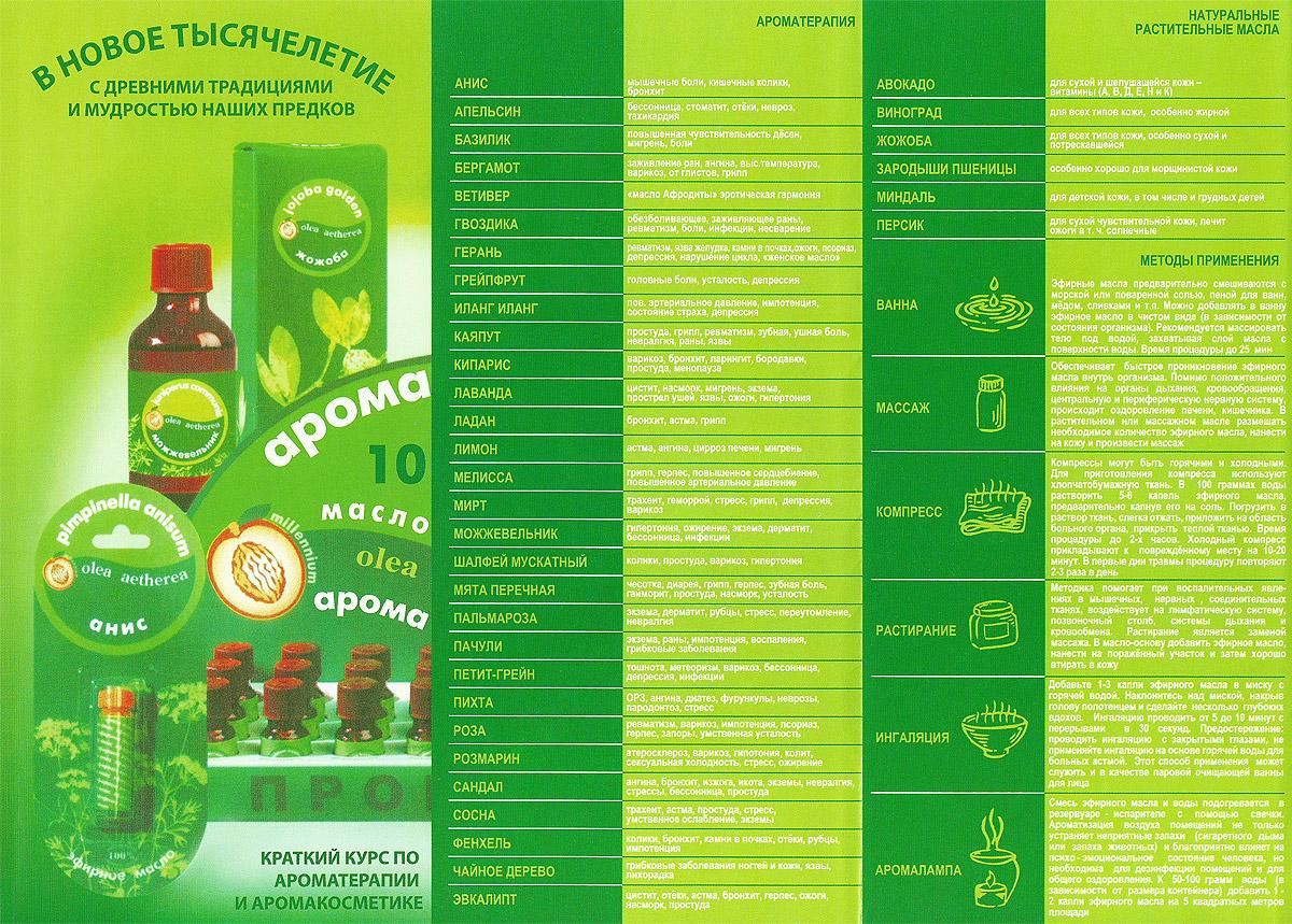 Ароматерапия, натуральные растительные масла, методы применения