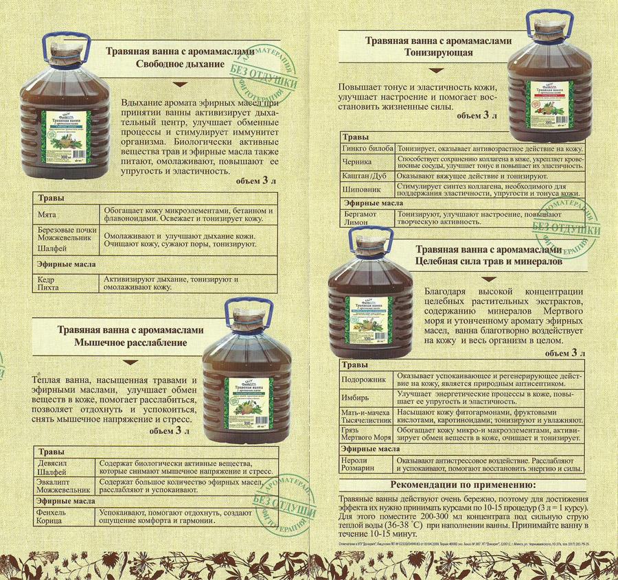 Травяная ванна с аромамаслами