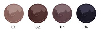 Тона оттеночного геля для бровей Relouis [Fix&Color] серии Professional